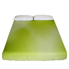 Green Soft Springtime Gradient Fitted Sheet (California King Size)