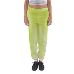 Green Soft Springtime Gradient Women s Jogger Sweatpants