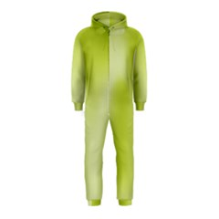 Green Soft Springtime Gradient Hooded Jumpsuit (kids)