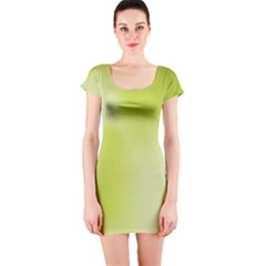 Green Soft Springtime Gradient Short Sleeve Bodycon Dress