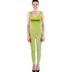 Green Soft Springtime Gradient Onepiece Catsuit