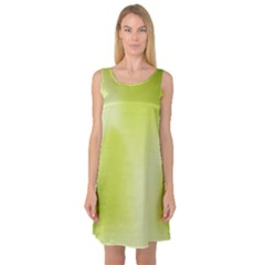 Green Soft Springtime Gradient Sleeveless Satin Nightdress