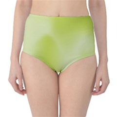 Green Soft Springtime Gradient High Waist Bikini Bottoms