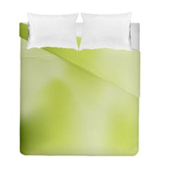 Green Soft Springtime Gradient Duvet Cover Double Side (full/ Double Size)