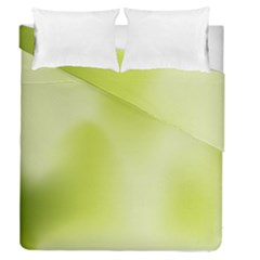 Green Soft Springtime Gradient Duvet Cover Double Side (queen Size)