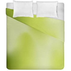 Green Soft Springtime Gradient Duvet Cover Double Side (california King Size)