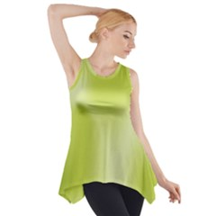 Green Soft Springtime Gradient Side Drop Tank Tunic