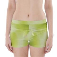 Green Soft Springtime Gradient Boyleg Bikini Wrap Bottoms