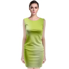 Green Soft Springtime Gradient Classic Sleeveless Midi Dress