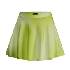 Green Soft Springtime Gradient Mini Flare Skirt