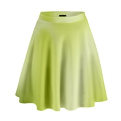 Green Soft Springtime Gradient High Waist Skirt