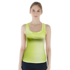 Green Soft Springtime Gradient Racer Back Sports Top