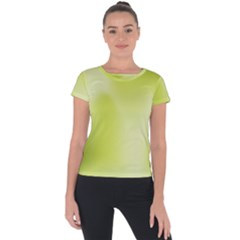 Green Soft Springtime Gradient Short Sleeve Sports Top