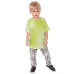 Green Soft Springtime Gradient Kids Raglan Tee