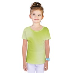 Green Soft Springtime Gradient Kids  One Piece Tee