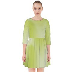 Green Soft Springtime Gradient Smock Dress