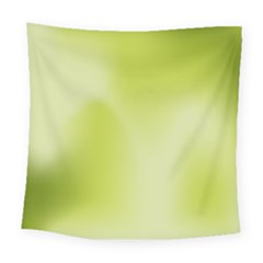 Green Soft Springtime Gradient Square Tapestry (Large)