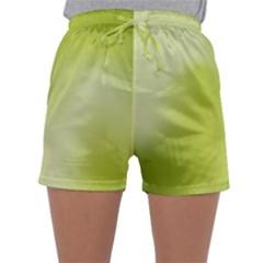 Green Soft Springtime Gradient Sleepwear Shorts