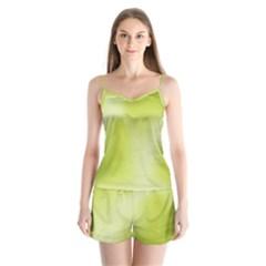 Green Soft Springtime Gradient Satin Pajamas Set