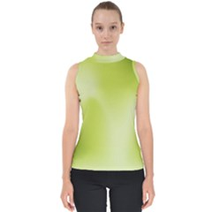 Green Soft Springtime Gradient Shell Top