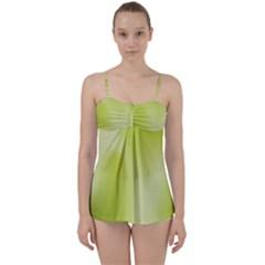 Green Soft Springtime Gradient Babydoll Tankini Set