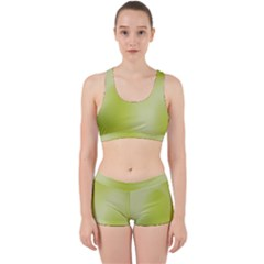Green Soft Springtime Gradient Work It Out Sports Bra Set