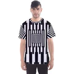 Black Stripes Endless Window Men s Sports Mesh Tee