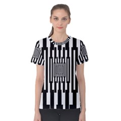 Black Stripes Endless Window Women s Cotton Tee