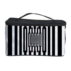 Black Stripes Endless Window Cosmetic Storage Case