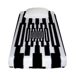 Black Stripes Endless Window Fitted Sheet (single Size)