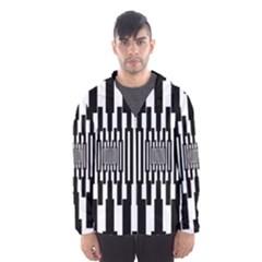Black Stripes Endless Window Hooded Wind Breaker (men)