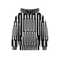 Black Stripes Endless Window Kids  Pullover Hoodie