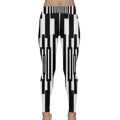 Black Stripes Endless Window Classic Yoga Leggings