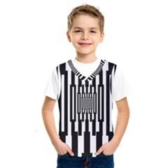Black Stripes Endless Window Kids  Sportswear