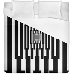 Black Stripes Endless Window Duvet Cover (king Size)