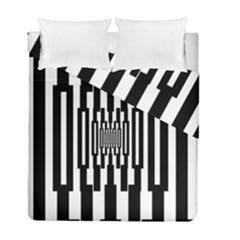 Black Stripes Endless Window Duvet Cover Double Side (full/ Double Size)
