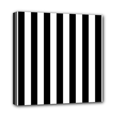 Black And White Stripes Mini Canvas 8  X 8