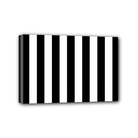 Black And White Stripes Mini Canvas 6  X 4