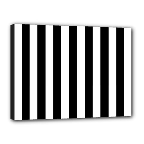 Black And White Stripes Canvas 16  X 12