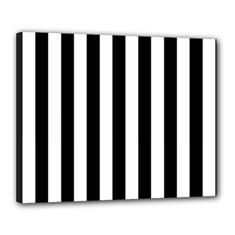 Black And White Stripes Canvas 20  X 16