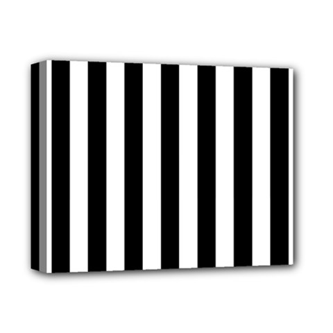 Black And White Stripes Deluxe Canvas 14  X 11