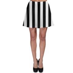 Black And White Stripes Skater Skirt by designworld65