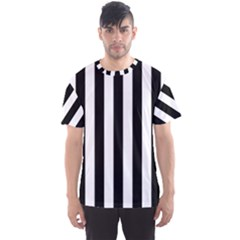 Black And White Stripes Men s Sports Mesh Tee