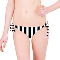 Black And White Stripes Bikini Bottom