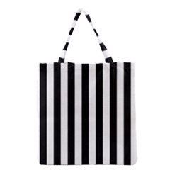 Black And White Stripes Grocery Tote Bag by designworld65