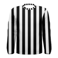 Black And White Stripes Men s Long Sleeve Tee