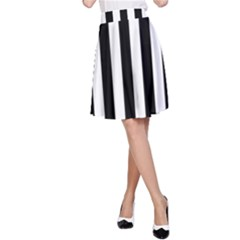 Black And White Stripes A Line Skirt