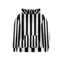 Black And White Stripes Kids  Zipper Hoodie