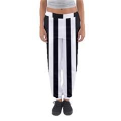 Black And White Stripes Women s Jogger Sweatpants by designworld65