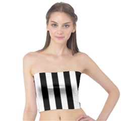 Black And White Stripes Tube Top